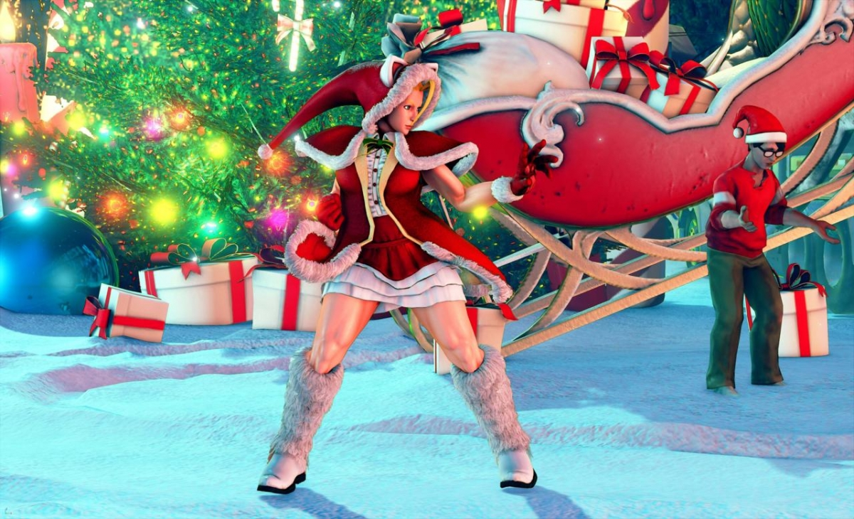Персонажи Street Fighter 5 предадутся ностальгии и приготовятся к Рождеству