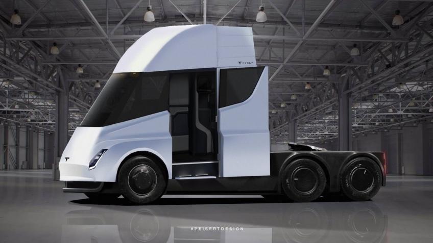 Tesla назвала цену электрического грузовика Semi