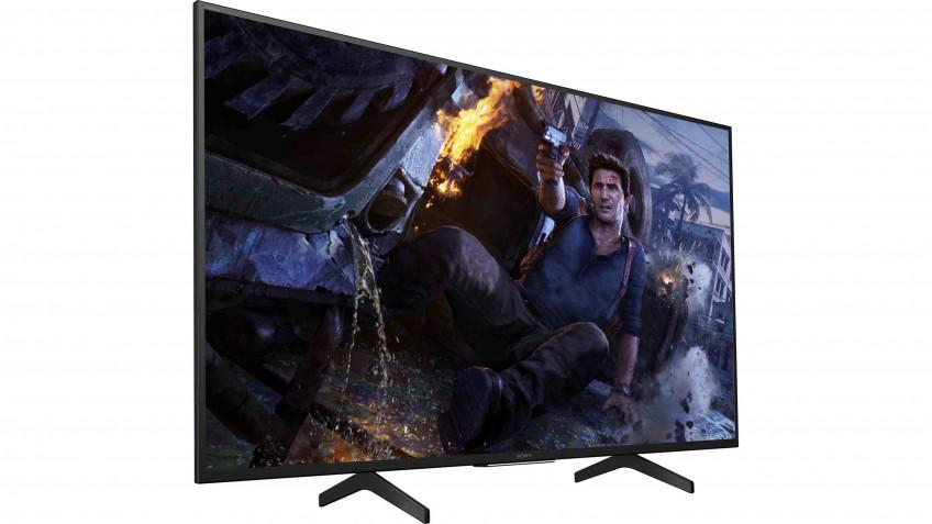 Sony KD-49XH8096 — Несмотря на цену почти в 70000 рублей, эта модель Sony мало отличается от аналогов за 40-50 тысяч, разве что Android TV у неё крайне удобный. Впрочем, лучше не обращайте на эту модель внимания — идите сразу в следующий диапазон.