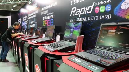 MSI на gamescom 2017. PC размером с консоль и ноутбук с механической клавиатурой