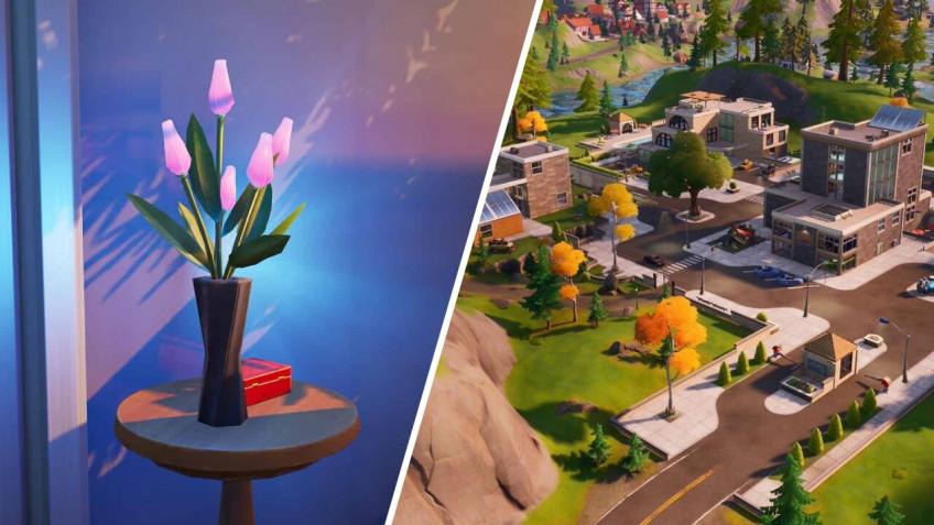 Гайд: Где найти вазу с цветами в Fortnite