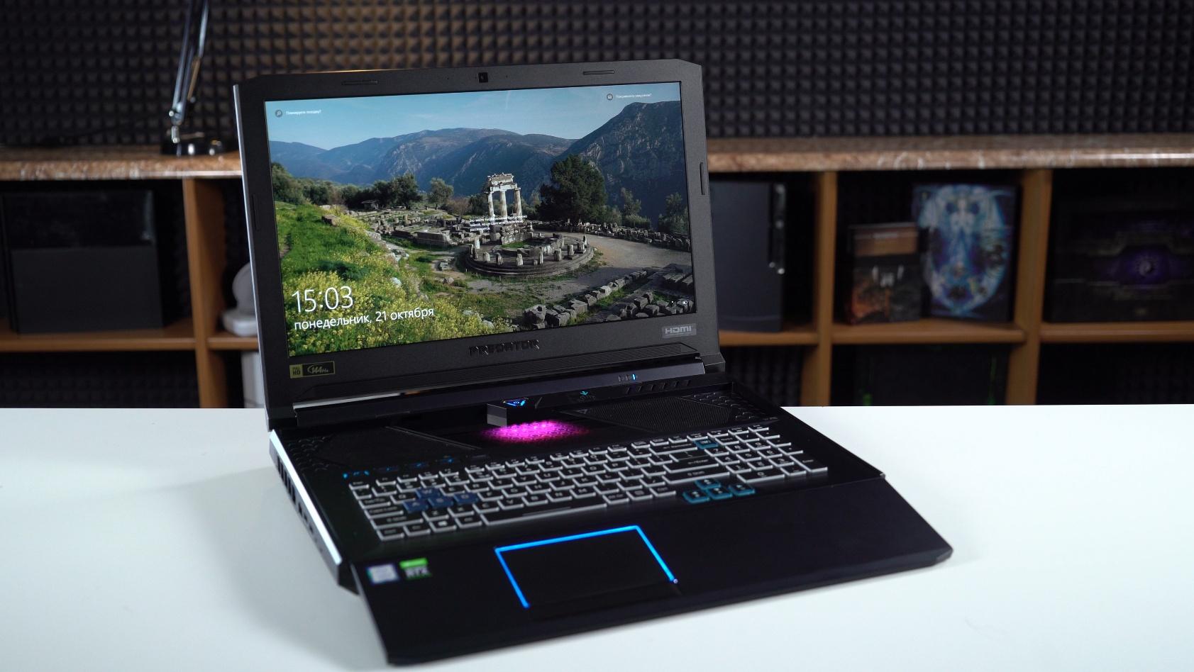 Дорого, но очень интересно. Helios 700 — ноутбук со сдвигающейся клавиатурой, встроенным геймпадом и 8-ядерным Core i9