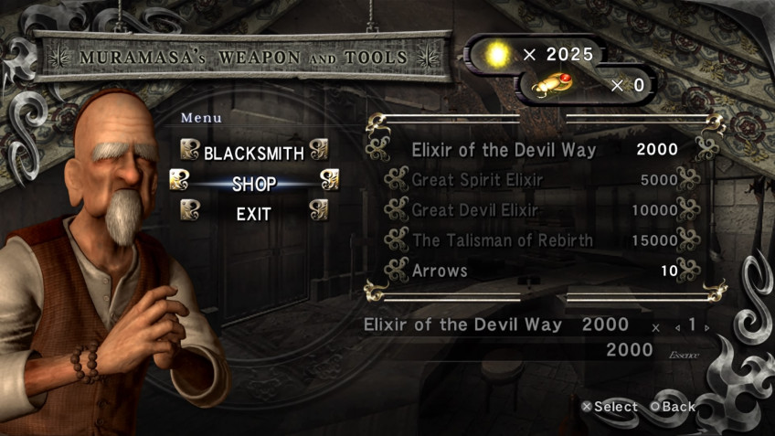 There are not so many ways to restore health in Ninja Gaiden.  The only safe option is to look into the shop of the blacksmith of Muramasa, where you can replenish the supply of healers all the way.  True, for this you need to spend the same currency that is needed to pump weapons