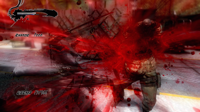 """In the original version of Ninja Gaiden 3, the authors basically removed the dismemberment - people did not appreciate it.  So in the """"director's version"""" the fake blood gushes so that it dazzles in the eyes"""