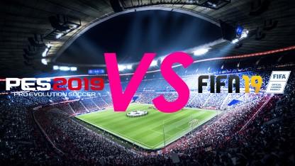 FIFA19 vs. Pro Evolution Soccer 2019. На чьём стадионе газон зеленей?
