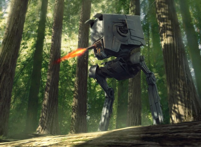 Дорогая, я переехал Скайуокера. Боевая техника Star Wars Battlefront