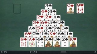 Pyramid Solitaire for iPhone.
