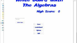 Whiteboard Math: The Algebras (itch)