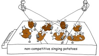 Non-Competitive Singing Potatoes (itch)