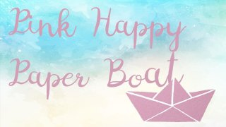 Pink Happy Paper Boat (itch)