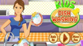 Kids Dish Washing and Cleaning Pro - Fun Kitchen Games for Girls,Kids and Boys