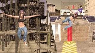 Parkour Stunt Girl Running