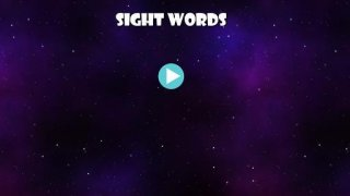 Sight Words - Space Game Word