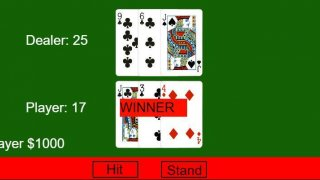 Simple Blackjack(21) game (itch)