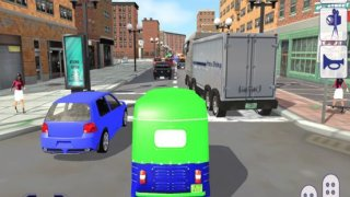 Tuk Tuk Auto Rickshaw Taxi Driver 3D Simulator: Crazy Driving in City Rush