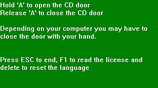 Open CD Door (itch)