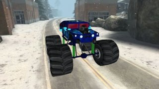 3D Monster Truck Snow Racing- Extreme Off-Road Winter Trials Driving Simulator Game Free Version