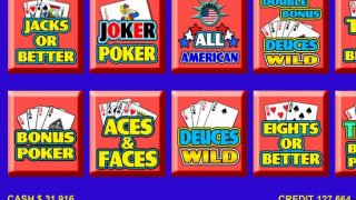Video Poker - FREE Las Vegas Casino Video Poker Suite Classic Deluxe Games