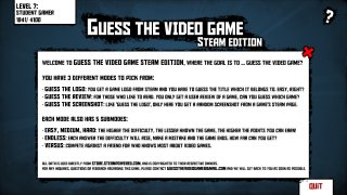 Guess The Video Game -Steam edition (itch)