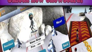 Super ninja snowboard 2016: new free Snowboarding running & jumping game For Family Adult's & Boy's & Girl's & Kid's ninja Challenge