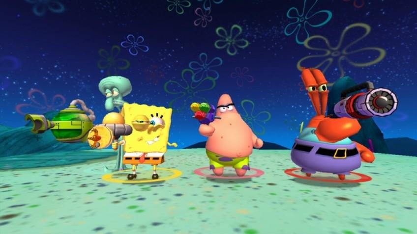 Губка боб игра с планктоном кто у человека паука лучший друг