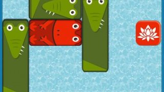 Frog Box - Puzzle game, slide to escape from hungry crocodiles