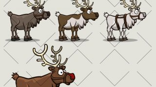 Animated reindeer (itch)