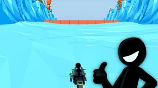 Snowmobile Stickman: Flip Race