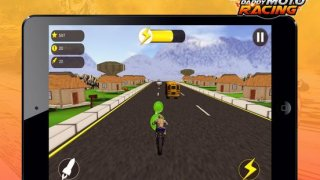 Daddy Moto Racing - Use powerful missile to become a motorcycle racing winner