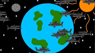 Flying Space Lazer Shark - Attack On Earth (itch)
