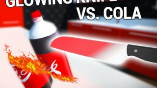 Glowing 1000 Degree Hot Knife vs Cola