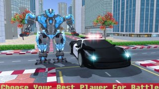US Police Robot Car Transformation Game (itch)