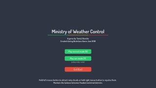 Ministry of Weather Control (itch)