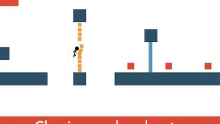 Christmas Stick Man Tap Line dodge Games for kids