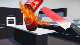 Bottle Flip vs Glowing Hot Knife Simulator