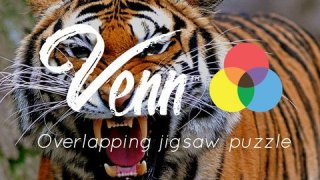 Venn Tigers: Overlapping Jigsaw Puzzles