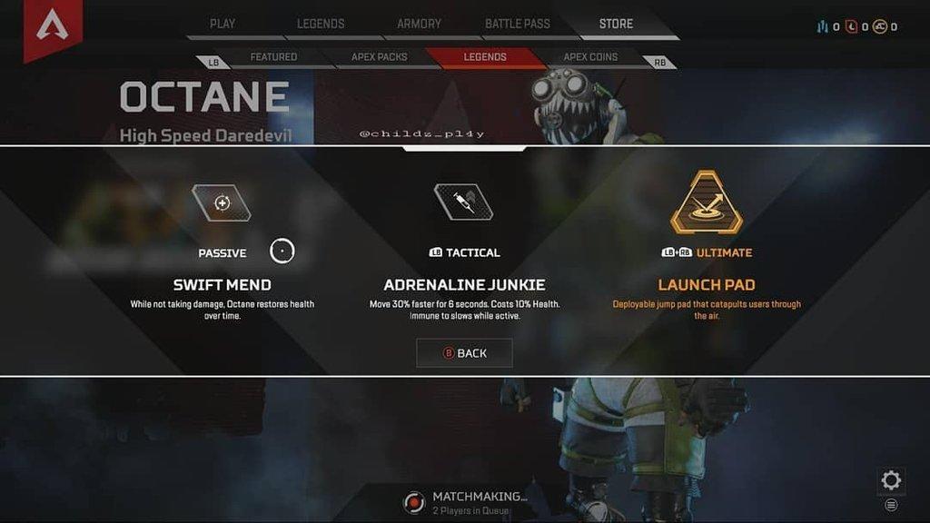 Утечка: первым новым героем Apex Legends станет Октейн