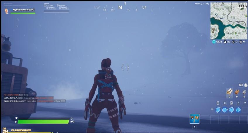 В Fortnite самопроизвольно начинаются снежные бури