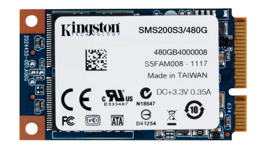 Kingston представила mSATA-накопители объемом 240 и 480 ГБ
