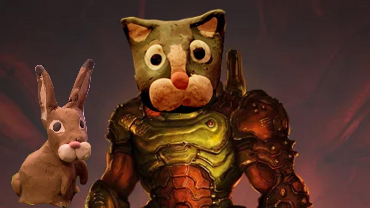 Думслеер снова стал котом в новом пластилиновом мультфильме по DOOM Eternal