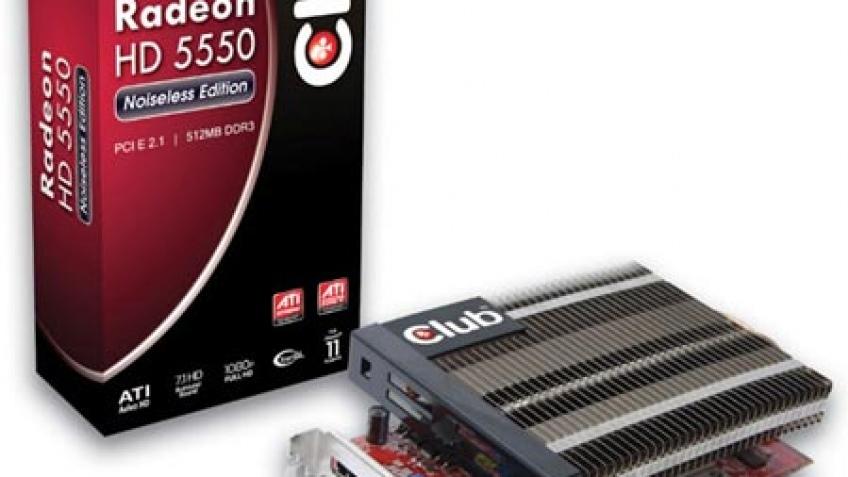 Club3D представила бесшумный Radeon HD 5550