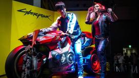 CD Projekt RED «усадила» Кодзиму на мотоцикл из Cyberpunk