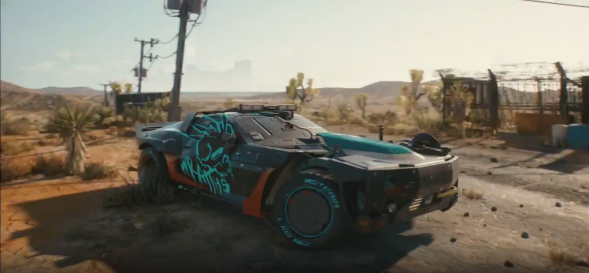 Авторы Cyberpunk 2077 показали кадры с машиной в пустыне