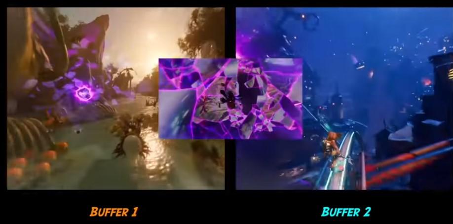 Пока игрок в первом сегменте, загружается второй, а между ними есть небольшой промежуточный мост для сглаживания каких-то глитчей или багов. Такое возможно на старых консолях.1