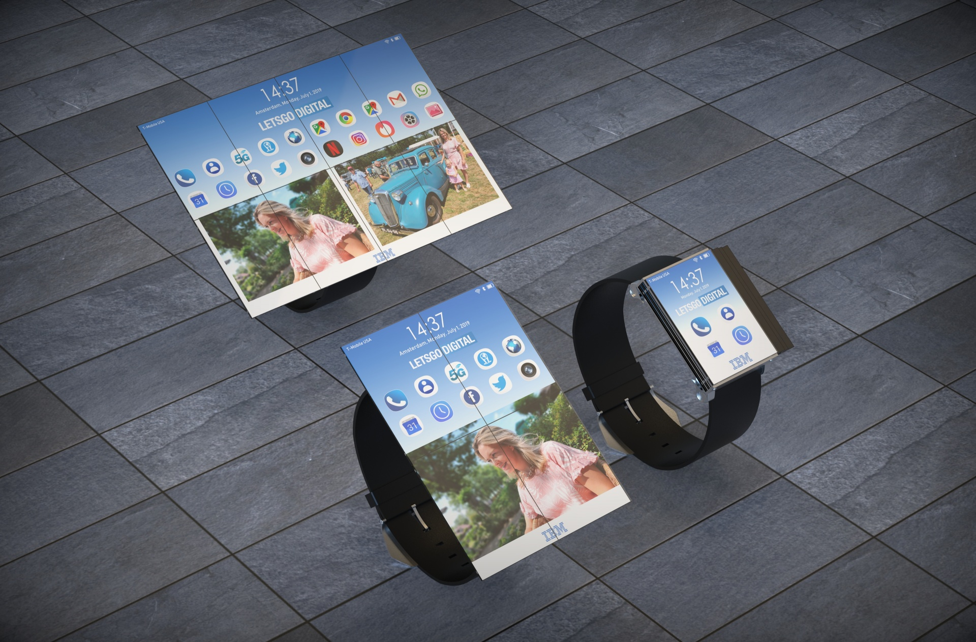 IBM запатентовала гибрид смарт-часов, смартфона и планшета