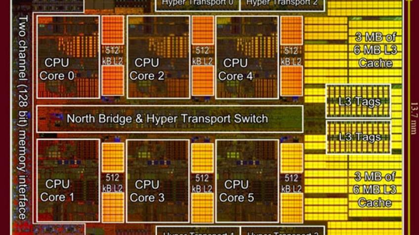 Цены шестиядерных процессоров AMD попали в Сеть