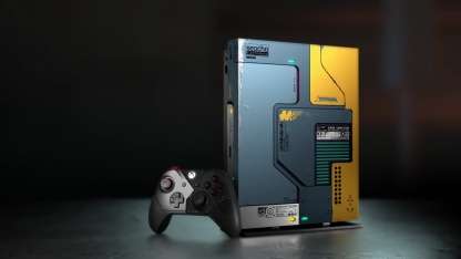 Microsoft представила лимитированную Xbox One X в стиле Cyberpunk 2077