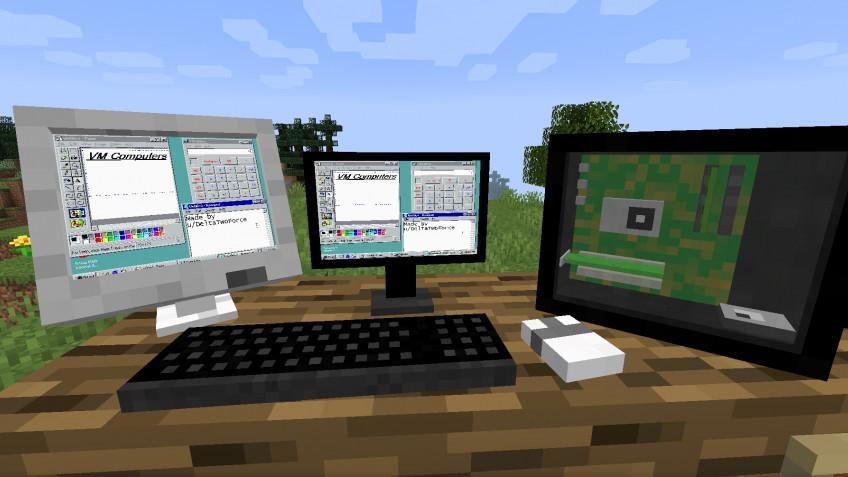 В Minecraft появились компьютеры с Windows и Doom