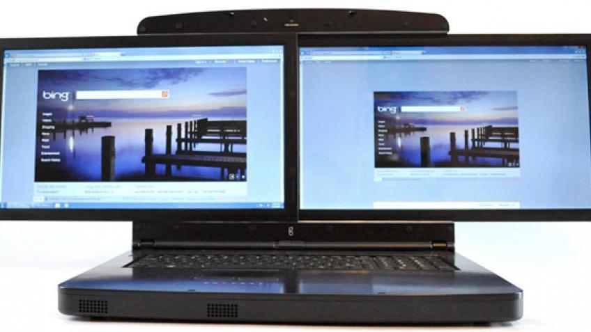 Мощный ноутбук Gscreen SpaceBook с двумя дисплеями уже можно заказать