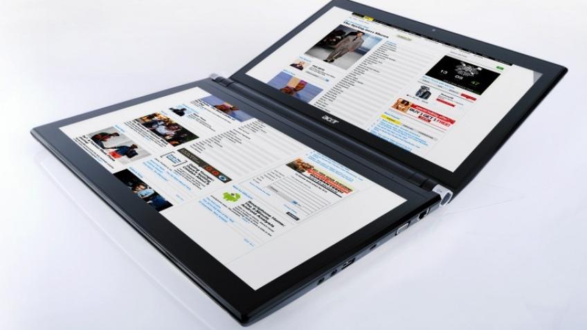 Acer показала ноутбук с двумя сенсорными дисплеями